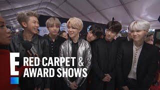 BTS Talks Emojis and More at the 2017 AMAs | E! Live from the Red Carpet