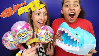 SHARK BITE Fishing Toy Challenge Game | Pikmi Pops Surprise Lollipops | Toys AndMe