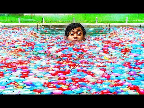 Xxx Mp4 I Filled My Swimming Pool With 10 000 Water Balloons 3gp Sex