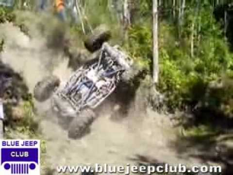 4x4 Jeeps offroad crashing and rolling