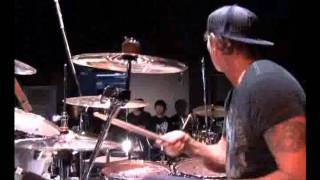 Chad Smith playing Moby Dick with japanese drummers