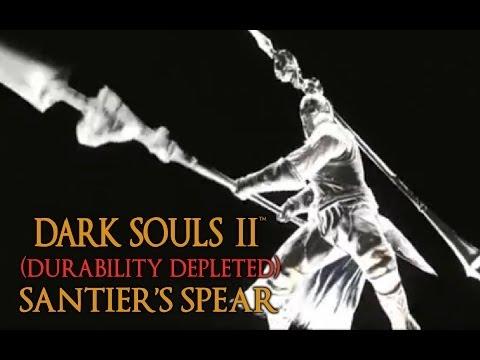 Dark Souls 2 Santier's Spear Tutorial (dual wielding w/ power stance)
