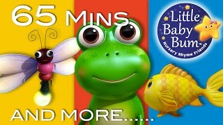Five Little Speckled Frogs | Part 2 | Plus More Nursery Rhymes | 65 Mins from LittleBabyBum