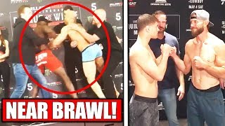 SCUFFLE Breaks out at Bellator weigh ins, UFC Ottawa weigh ins, Reactions to Brock Lesnar retirement