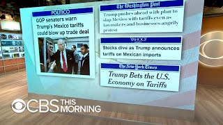 What is the White House's strategy with proposed Mexico tariffs?