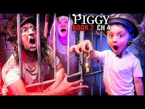 PIGGY Trapped Me 4 MONTHS FGTeeV Family vs. ROBLOX Book 2 Ch4 Gameplay Skit