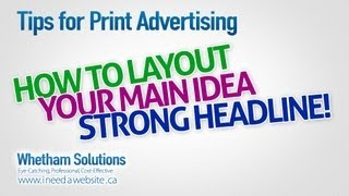 Tips for Print Advertising - Ideas for Print Ads