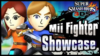Super Smash Bros. 3DS | Mii Fighter Showcase: All Moves and Customization!