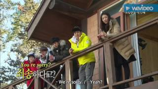 2 Days & 1 Night - PDs looking at Park Shin Hye & forget to look at the timing