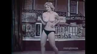 Candy Barr - burlesque striptease dance to 'Goldfinger'