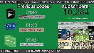 SUBSCRIBER GIVEAWAYS FREE PSN / XBOX / GOOGLE PLAY CODES