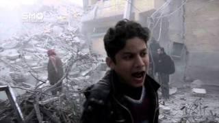 مؤثر : كلمات من القلب لطفل تعرض منزلهم للقصف وإصابة افراد عائلته