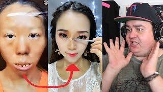 Daz Watches Asian Make Up Transformation