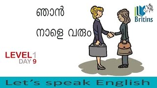 Spoken English in Malayalam- Level 1, Day 9