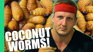 HOW TO EAT COCONUT WORMS! (Inspirational)