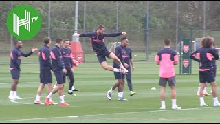 Unai Emery leads Arsenal training ahead of Europa League opener - Arsenal v Vorskla