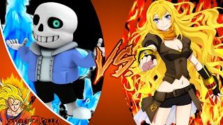 SANS vs YANG! (Undertale vs RWBY) Cartoon Fight Club Ep 156 + 2 More Fights REACTION!!!