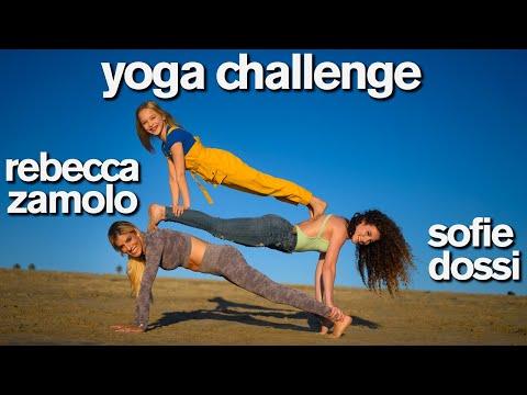 Epic YOGA CHALLENGE ft Sofie Dossi Rebecca Zamolo Lilly K