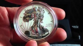 2012 San Francisco 2 Coin American Eagle Silver Dollar Proof Set