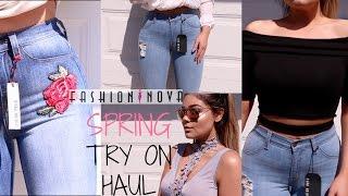 Fashion Nova SPRING Try On Clothing HAUL | Blissfulbrii