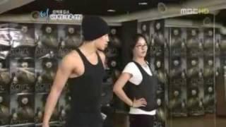 Rain & kim Sun Ah Rehearsal Room (1)