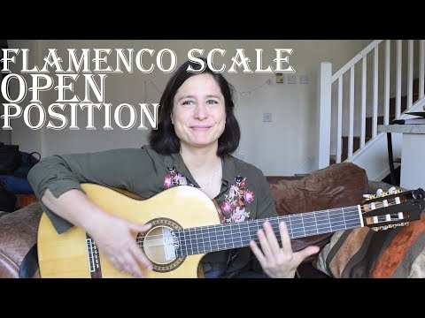 How to play  a flamencoSpanish guitar scale in open position - E phrygian
