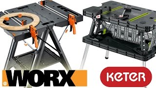 Worx Pegasus VS Keter  Folding Work Table | Review and Demo 🔨🔨🔨