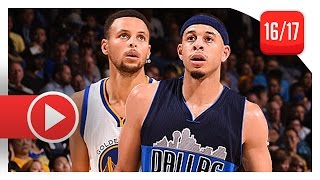 Stephen Curry vs Seth Curry BROTHERS Duel Highlights (2016.11.09) Warriors vs Mavericks - SICK!