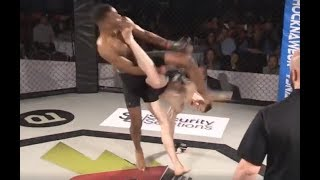 Amateur MMA Fighter STARCHES Opponent with Capoeira Kick