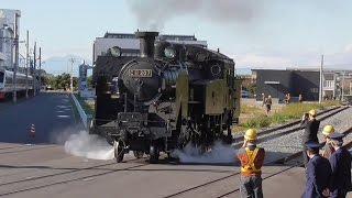【東武鉄道SL復活へ向けた動き】SL C11-207 「大樹」南栗橋構内 単機 試運転 1回目は慣らし運転、2回目は高速走行 Tobu Railway steam locomotive