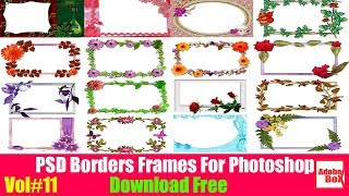PSD Borders Frames For Photoshop Download Free By Adobe Box