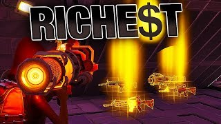 RICHEST Players give me BEST RARE Weapons! (POWER 130)   Fortnite Save the World