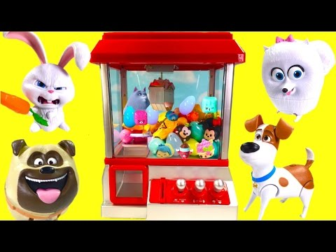 Secret Life of Pets Play CLAW MACHINE Game with Toy Surprises Blind Bags and Fashems