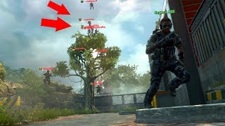 I DIDN'T SEE THEM IN A GLITCH SPOT ON TOP OF THE TREES!! HIDE N' SEEK ON *BLACK OPS 2*