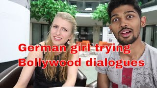 GERMAN GIRL ACTING ON BOLLYWOOD FILM DIALOGUES (SHOLAY MOVIE)|PART 1| BERLIN, GERMANY