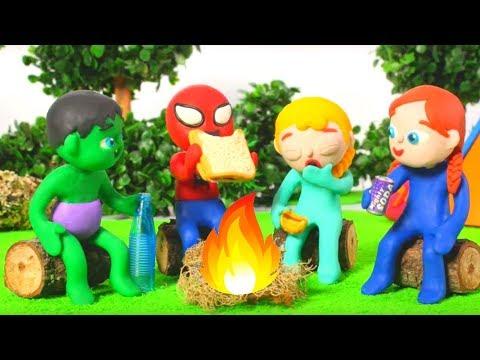 Xxx Mp4 SUPERHERO BABIES GO CAMPING ❤ Spiderman Hulk Frozen Play Doh Cartoons For Kids 3gp Sex