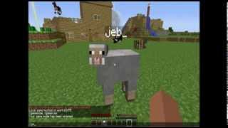 Minecraft How To Get Upside Down Animals And Color Changing Rainbow Sheep Legit! No Mods!