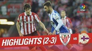 Resumen de Athletic Club vs RC Deportivo (2-3)