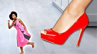 GIANT SHOE vs Tiny Shasha! - Shiloh Onyx Kids