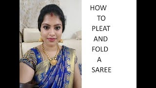 HOW TO PLEAT AND FOLD A SAREE - ENGLISH