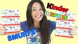 Mega Kinder Surprise Smurf Eggs and more