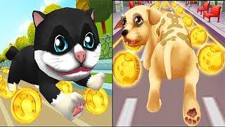 Real Cat Run VS Real Dog Run / Cartoon Games Kids TV
