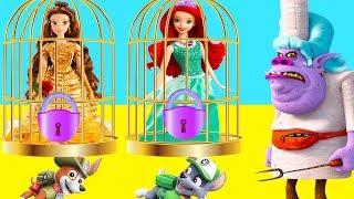 Trolls Chef Pranks Disney Princess with Jail Lock and Key Playset, LOL Surprise Toys, Slime