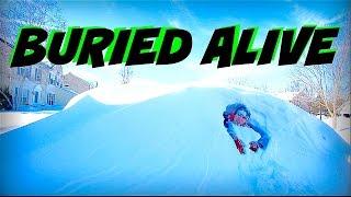 MAN BURIED ALIVE UNDER SNOW!!!!