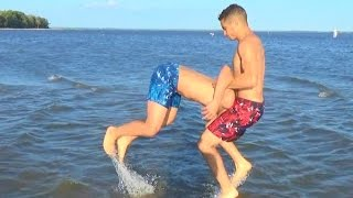 WWE MOVES AT THE BEACH