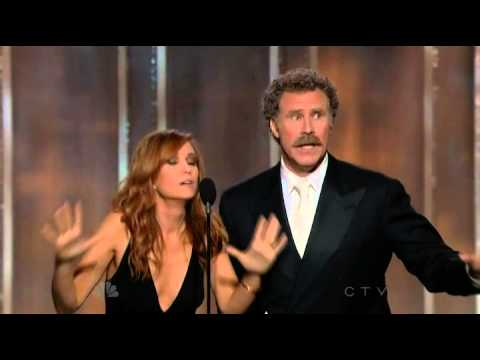 Will Ferrell & Kristen Wiig hilarious presenting speech 70th Annual Golden Globe Awards 2013