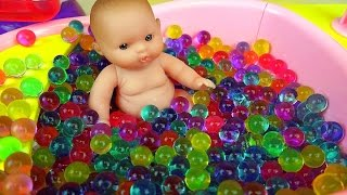 Orbeez Baby Doll bath toys & play shower