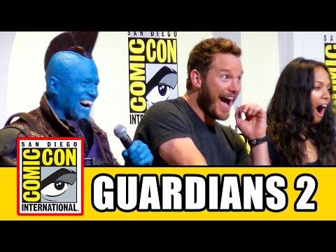 GUARDIANS OF THE GALAXY 2 Comic Con Chris Pratt Zoe Saldana Karen Gillan Dave Bautista