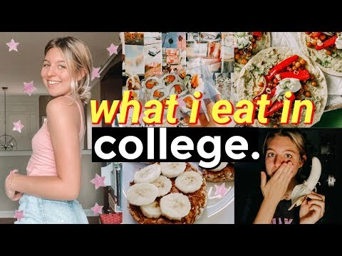 What I eat in a day in college realistic somewhat healthy