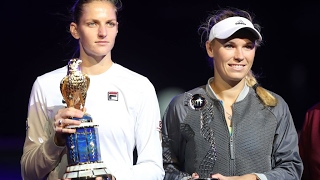 2017 Qatar Total Open Final   Karolina Pliskova vs Caroline Wozniacki   WTA Highlights